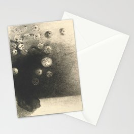 "Odilon Redon ""N'y a-t-il pas un monde invisible"" Stationery Cards"