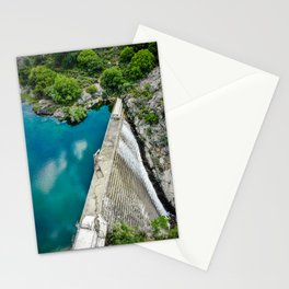 Overflowing dam Stationery Cards