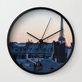 Parisian Sunset Wall Clock