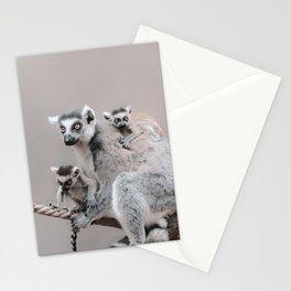 RINGTAILED LEMUR FAMILY by Monika Strigel Stationery Cards