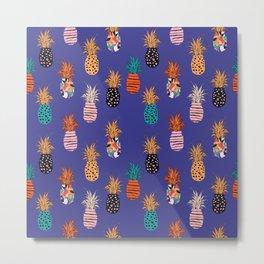 Funky Pineapple Pattern 4.0 Metal Print