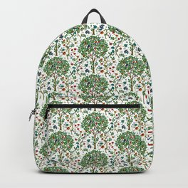 William Morris Tree of Life Pattern, Green & Multi Backpack