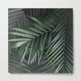 Elegant Green Tropical Leaves Metal Print