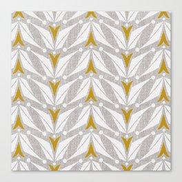 Tulipa - Flax Canvas Print