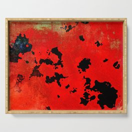 Red Modern Contemporary Abstract Textured Design Serving Tray