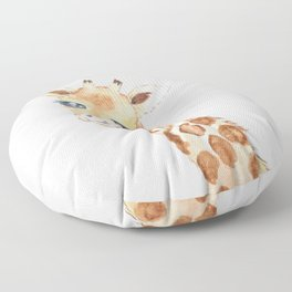 cute baby giraffe watercolor  Floor Pillow