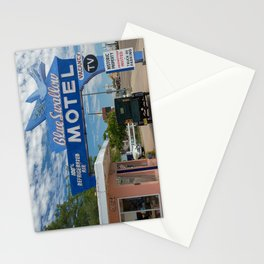 Vintage Americana the Blue Swallow Motel along Route 66 in Tucumcari Stationery Cards