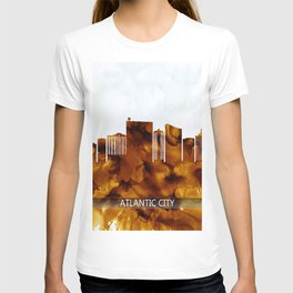 Atlantic City New Jersey Skyline T-shirt