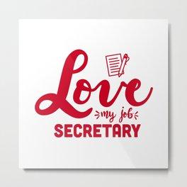 Secretary, School secretary Metal Print