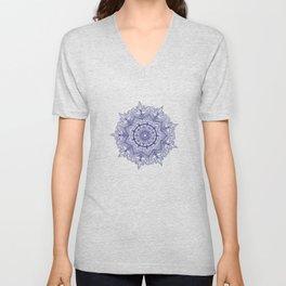Blue Flower Mandala Unisex V-Neck