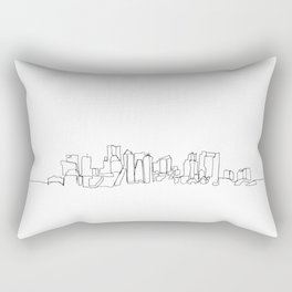 Boston Skyline Drawing Rectangular Pillow