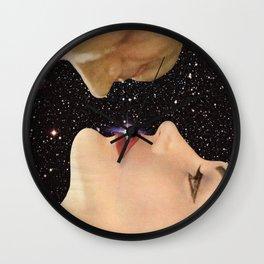 Interstellar kiss Wall Clock