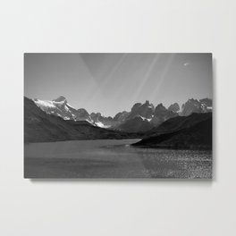 Patagonia Black and White Metal Print
