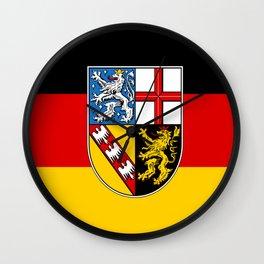 Flag of Saarland -Sarre Wall Clock