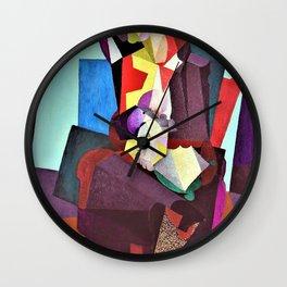 Motherhood, Angelina And The Child Diego - Diego Rivera Wall Clock