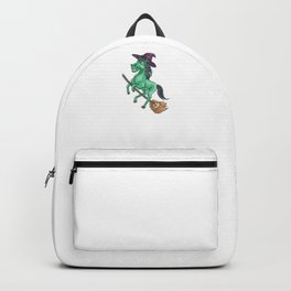 Witch Horse, It's Show Time Funny Halloween Horror Scary Backpack