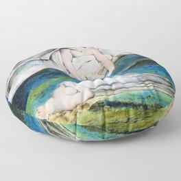 William Blake - Pity - Digital Remastered Edition Floor Pillow