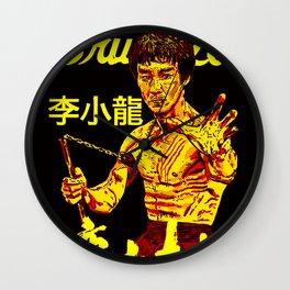 """Bruce """"The little Dragon"""" Lee By La Brea 李小龙 Wall Clock"""