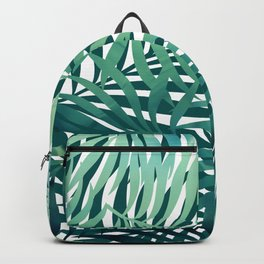 Hawaii Prints, Green and Blue, Abstract Art Backpack