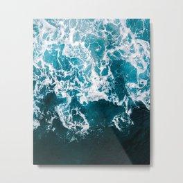 Blue Wave Network – Minimalist Oceanscape Photography Metal Print
