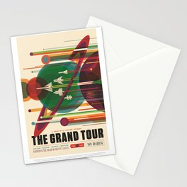 The Grand Tour : Vintage Space Poster Stationery Cards