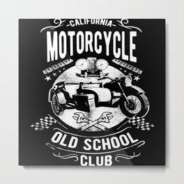 California Motorcycle Metal Print