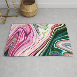 Colorful Marbleized Background Rug