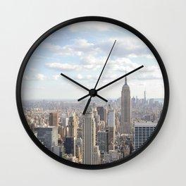 Manhattan skyline view Wall Clock