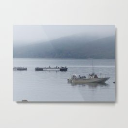 Foggy Morning on the Bay Metal Print