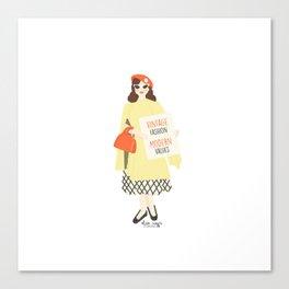 Vintage Fashion Modern Values Canvas Print