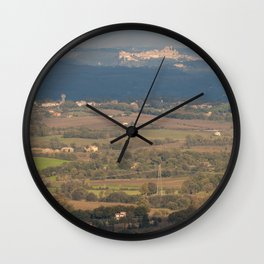 Italian countryside landscape Wall Clock
