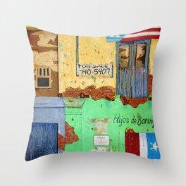 Hijos De Borinque Throw Pillow