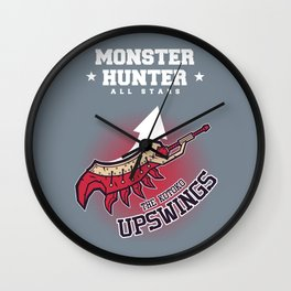 Monster Hunter All Stars - The Kotoko Upswings  Wall Clock