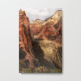 Scout Lookout, Zion National Park Metal Print