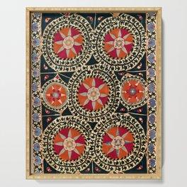 Katti Kurgan Suzani Uzbekistan Embroidery Print Serving Tray
