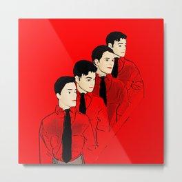 Kraftwerk Kens - Funny Music Pop Art! Metal Print