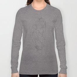 ligature - one line art Langarmshirt