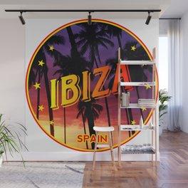 Ibiza, summer sunset, circle Wall Mural