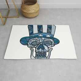 Uncle Sam Skull Mosaic Rug