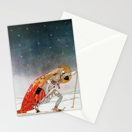 Kay Nielsen - A King Who Goes To Find A Wolf That Has Returned To A White Country Stationery Cards
