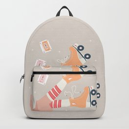 Roller skate girl 003 Backpack