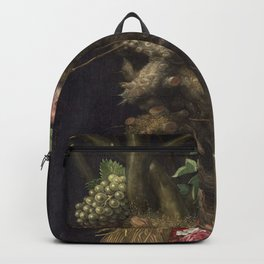 Four seasons in one head - Giuseppe Arcimboldo Backpack