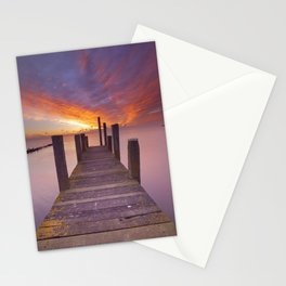 III - Seaside jetty at sunrise on Texel island, The Netherlands Stationery Cards