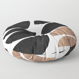 Mid-Century Modern Pattern No.7 - Concrete and Wood Floor Pillow