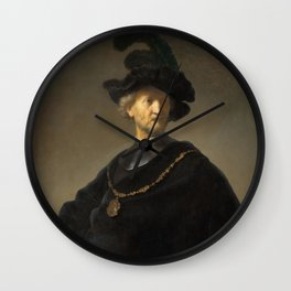 Rembrandt - Old Man with a Gold Chain (1631) Wall Clock