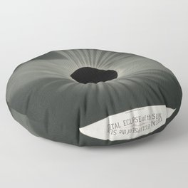 The Trouvelot Astronomical Drawings (1881) - A Total Eclipse of the Sun, 1878 Floor Pillow