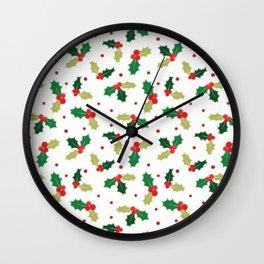 Holly Season Wall Clock
