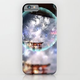 Hiroshima Bay Bubble iPhone Case