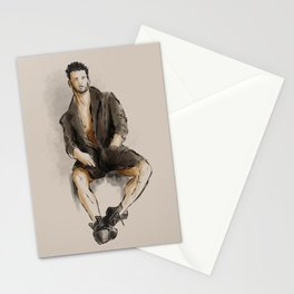Model watercolor study Stationery Cards
