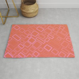 Retro pattern in shades of melon Rug